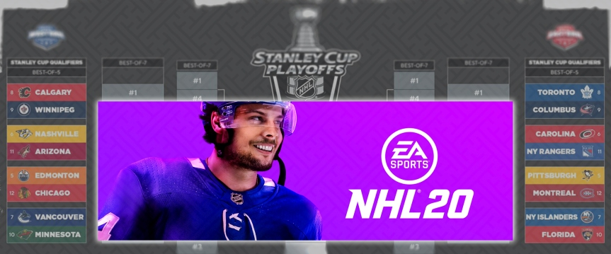 Analyzing Stanley Cup Qualifier Matchups Using Online Games of NHL 20